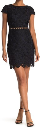 Sam Edelman Cap Sleeve Lace Sheath Dress