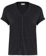 Brunello Cucinelli Monili-embellished stretch-cotton sweatshirt