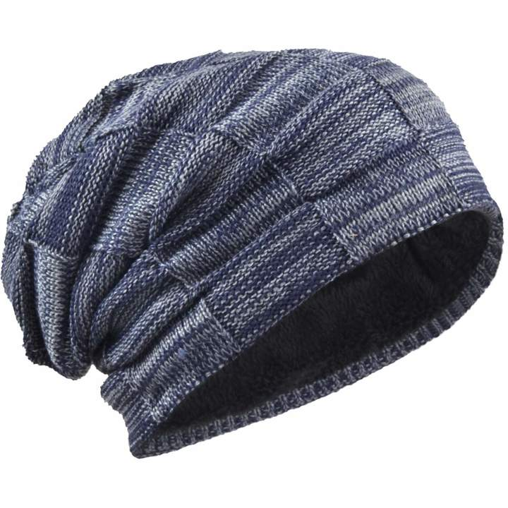 724b61aa9 JESSE · RENA Mens Beanie Winter Hat Thick Soft Fleece Lined Knit Skull Cap