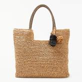 John Lewis Straw Pom Pom Shoulder Bag