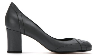 Sarah Chofakian panelled leather pumps