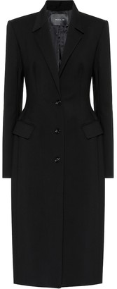 Thierry Mugler Wool-blend coat