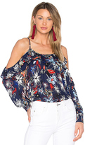 Parker Maureen Combo Blouse in Navy. - size S (also in XS)