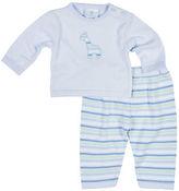 Florence Eiseman Crewneck Sweater w/ Striped Pants, Size 3-12 Months