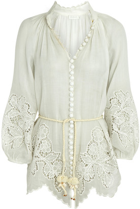 Zimmermann Carnaby Embroidered Blouse