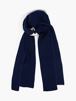 Raf Simons Blue Panelled Wool Scarf