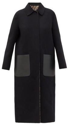 Fendi Reversible Wool-blend Coat - Black
