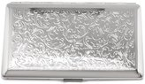 Gifts & More Silver-tone Cigarette and Cards Case with Mirror (Holds 10-120mm)