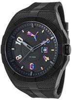Puma Quartz Plastic and Polyurethane Casual Watch, Color:Black (Model: PU103501012)