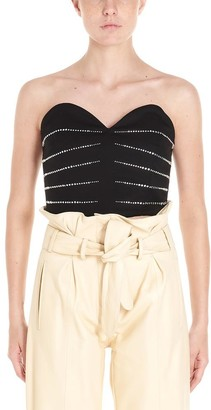 ATTICO Embellished Strapless Top