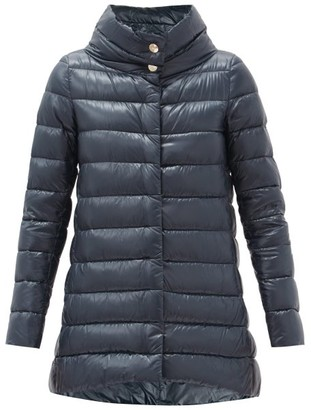 Herno Amelia Quilted Down Coat - Navy