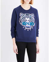 Kenzo Icon Tiger-embroidered cotton-jersey sweatshirt