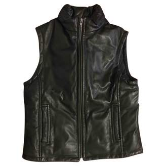 Fay Black Leather Leather Jacket for Women