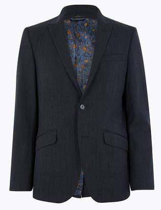 Marks and Spencer Textured Slim Fit Wool Blend Jacket