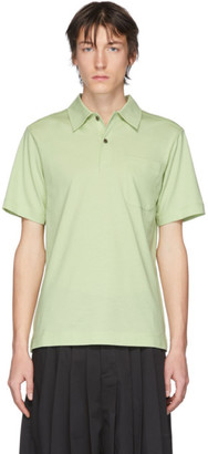 Dries Van Noten Green Pocket Polo