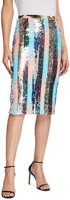 Loyd/Ford Multipattern Sequin Midi Skirt