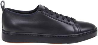 Santoni Sneakers Lace-up Sneakers In Leather With Rubber Sole