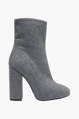 Dries Van Noten Wool And Silk-blend Felt Ankle Boots
