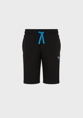 Emporio Armani Drawstring Bermuda Shorts With Side Logo