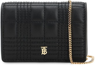Burberry JESSIE QUILTED LEATHER CHAIN WALLET