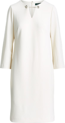 Ralph Lauren Crepe Bell-Sleeve Dress