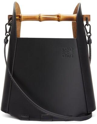 Loewe Bamboo-Handle Leather Bucket Bag