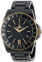 Vivienne Westwood Unisex VV048GDBK Gold-Tone and Black Ceramic Bracelet Watch