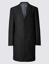 Limited Edition Fleck Single Breasted Revere Overcoat