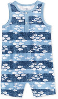 First Impressions Fish-Print Cotton Romper, Baby Boys (0-24 months), Created for Macy's