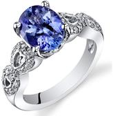 Ice 2 1/2 CT TW Tanzanite 14K White Gold Fashion Ring with Diamond Accents
