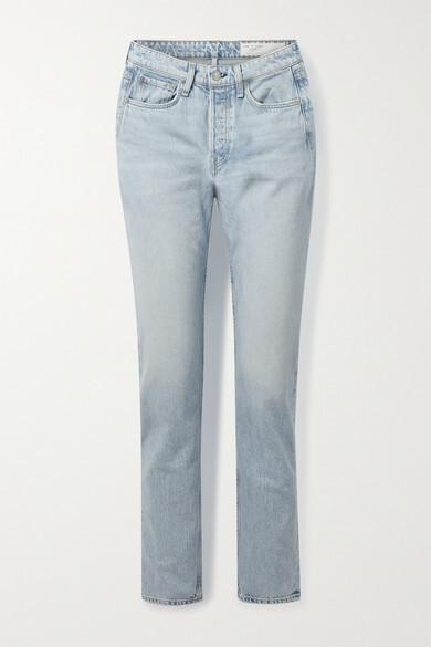 Thumbnail for your product : Rag & Bone Maya High-rise Slim-leg Jeans - Light denim