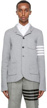 Thom Browne Grey Merino 4-Bar Sport Coat Blazer