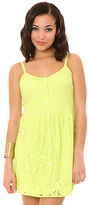Volcom The Not So Classic Lace Dress in Lime