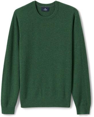 Lands' End Big & Tall Men's Fine Gauge Cashmere Crewneck Sweater
