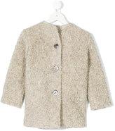 Amelia Milano collarless buttoned coat