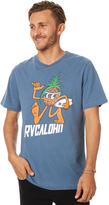 RVCA Pineapple Man Mens Tee Blue