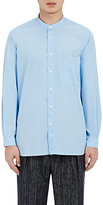 TOMORROWLAND MEN'S BANDED-COLLAR SHIRT-BLUE SIZE M