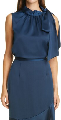 Sachin + Babi Tie Neck Satin Top