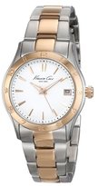Kenneth Cole New York Women's KC4930 Modern Core Silver Dial Rose Gold Bezel and Bracelet Watch