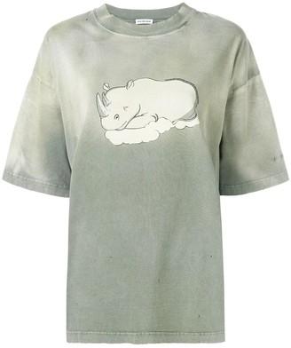 Balenciaga Rhino Print T-Shirt