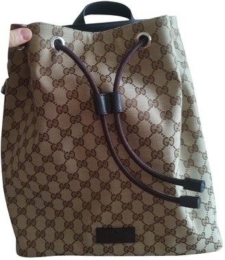 Gucci Beige Cloth Backpacks