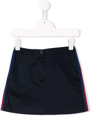 Gucci Kids Side Stripes Denim Skirt