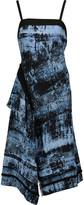 Proenza Schouler Fringed printed silk midi dress