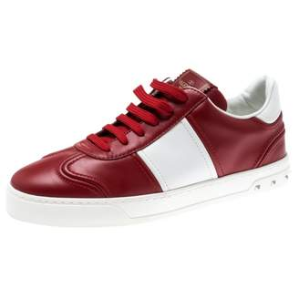 Valentino \N Red Leather Trainers