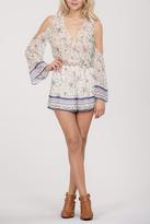 Ark & Co Floral Cold Shoulder Romper