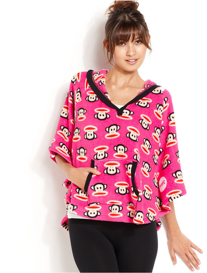Paul Frank Age Group Pajamas, Super Plush Pink Monkey Head Hooded Poncho