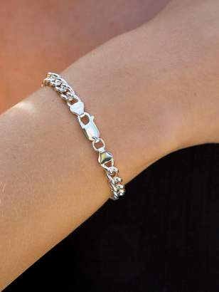 The Love Silver Collection Sterling Silver 2/3Oz Rounded Curb Bracelet