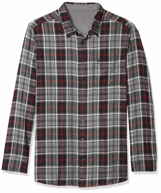 Original Penguin Men's Big and Tall Long Sleeve Plaid Flannel Button Down Shirt