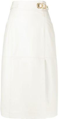 Alberta Ferretti Wrap Midi Skirt
