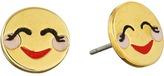 Kate Spade Tell All Blushing Emoji Studs Earrings